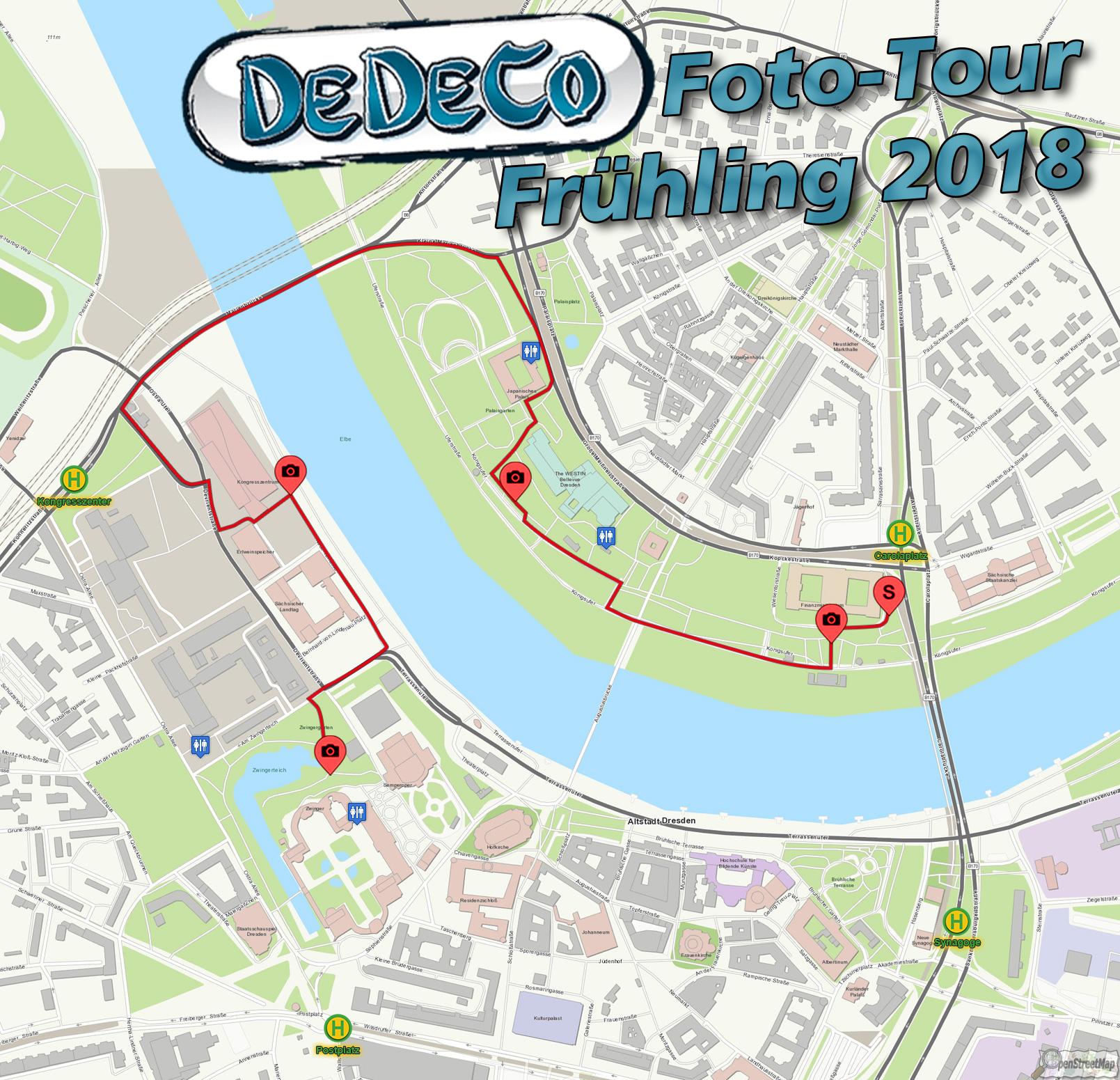 DeDeCo Fotot Tur Vol 12 Streckenplan